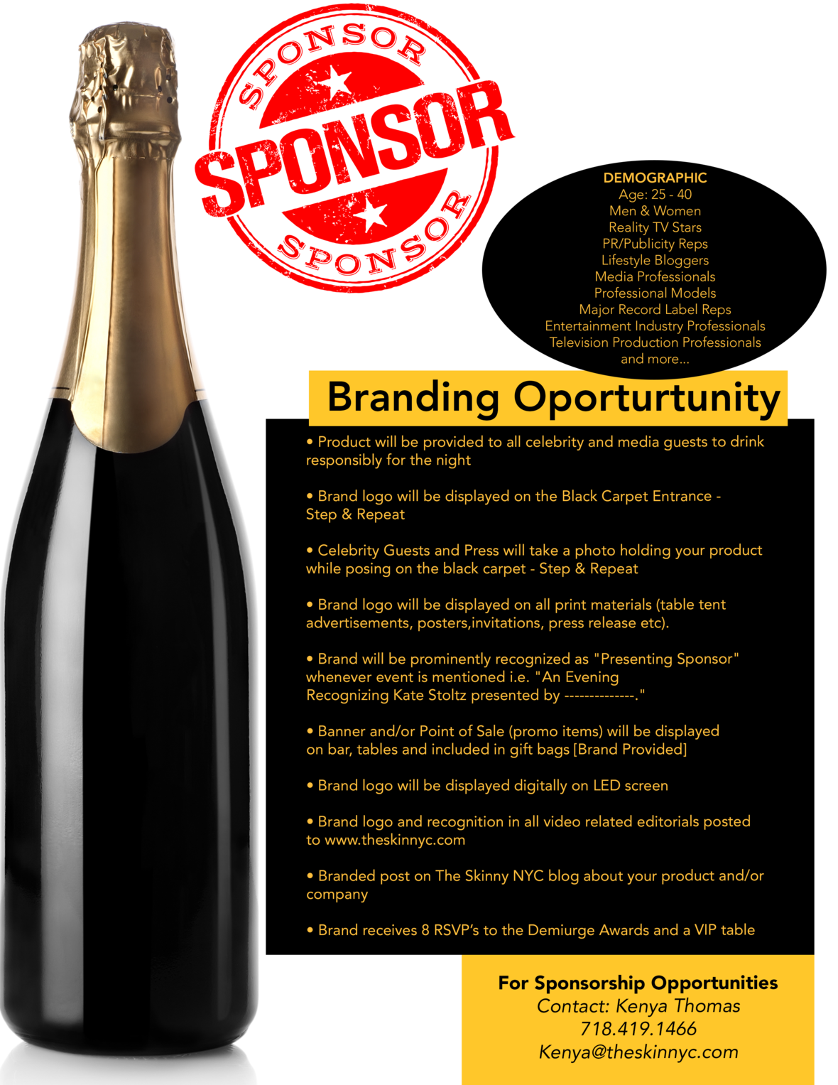 how to ask for sponsorship for a promotion