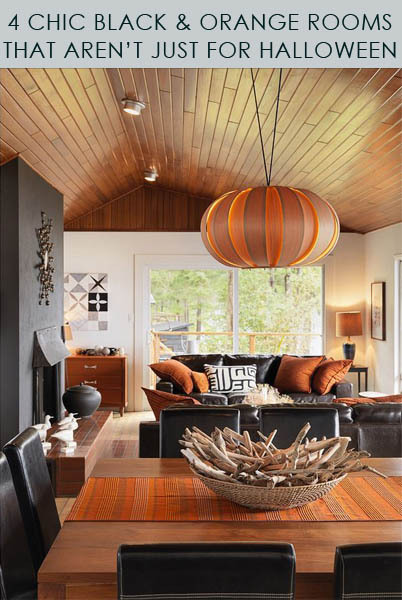 4 Chic Black and Orange Rooms that Arent Just for Halloween