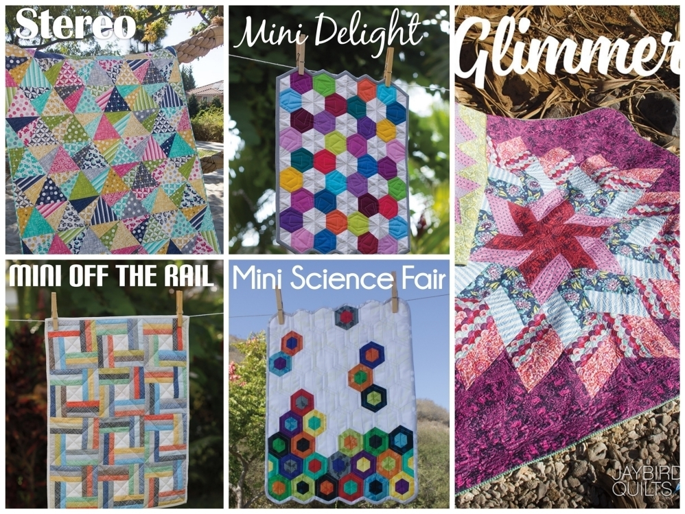 jaybird quilts  glimmer sewing pattern Fotor Collage