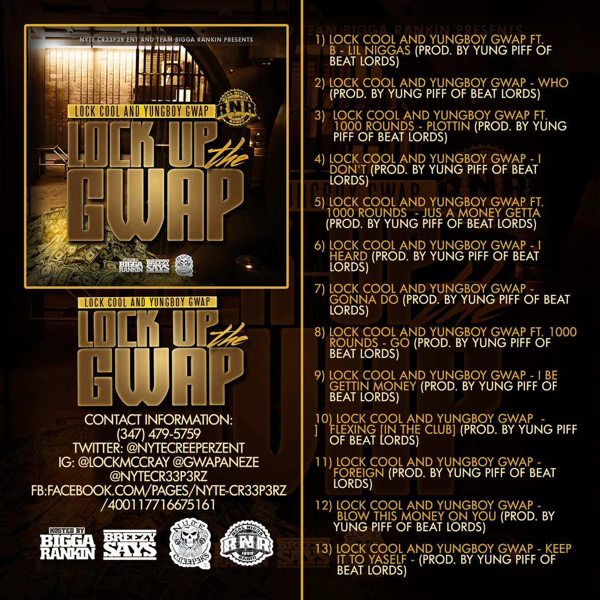 LOCK COOL and YUNGBOY GWAP - LOCK UP THE GWAP WRNR - BACK 1
