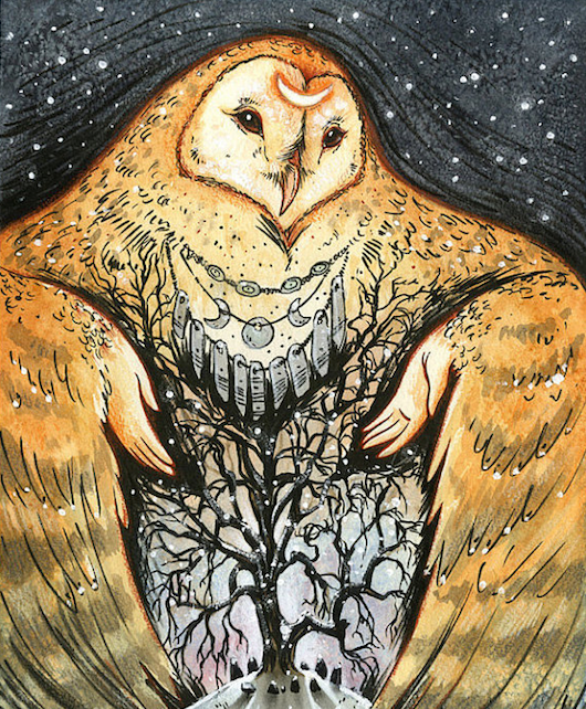 Owl Mother by Stephanie Lostimolo