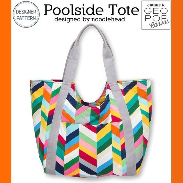 Poolside Tote - swatch and stitch