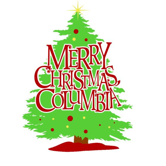 Merry Christmas Columbia logo
