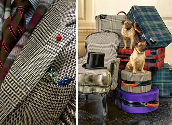 Plaid Houndstooth Interior Decor Menswear