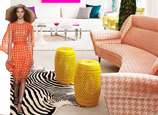Colorful Houndstooth Interior Decor Trend 2