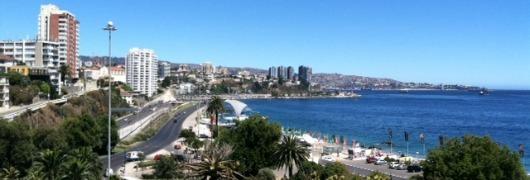 Beach and Valparaiso