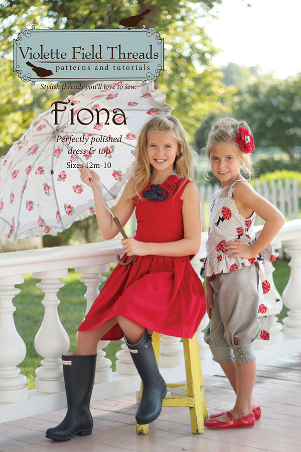 violette field threads fiona dress and top sewing pattern