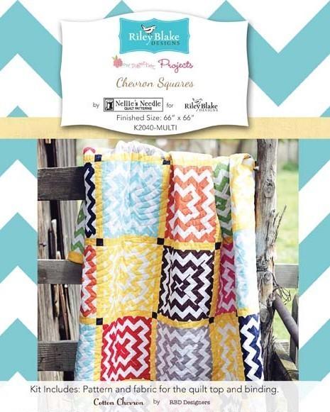 riley blake designs house designer chevron squares quilt kit sewing pattern