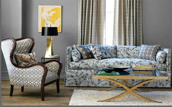Most Popular Color Grey Interior Decor Robert Allen Gate Living Room