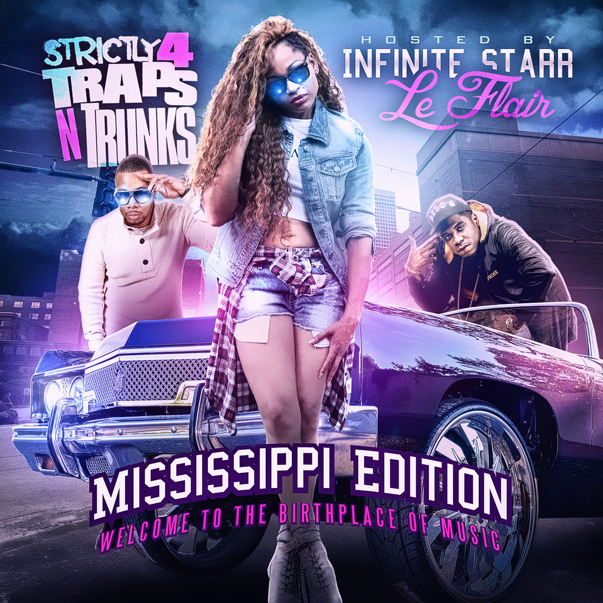 Traps N Trunks Infinite Starr Mississippi Edition mixtape Cover