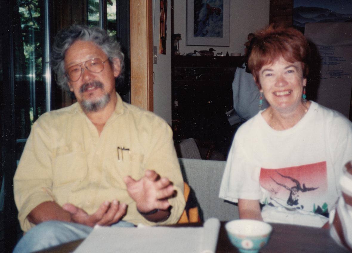 Tanis   David Suzuki at table-cropped