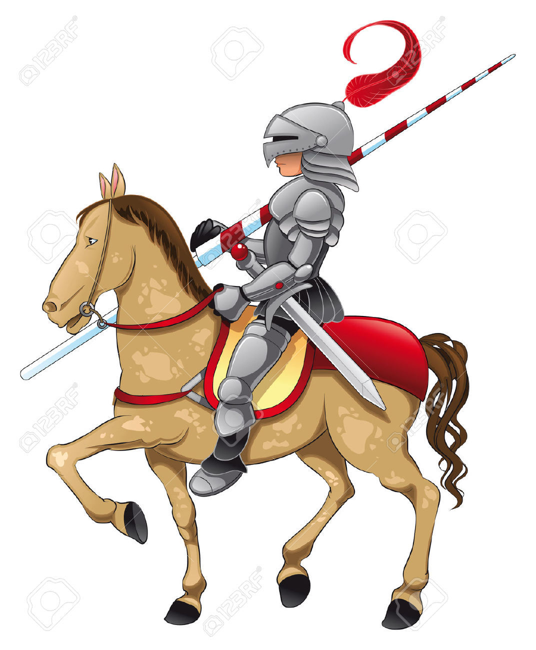 Knight on Horse Image
