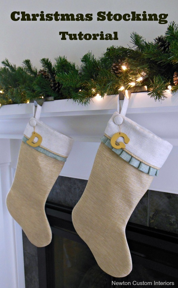 christmas stocking tutorial - Elegant Christmas Stockings