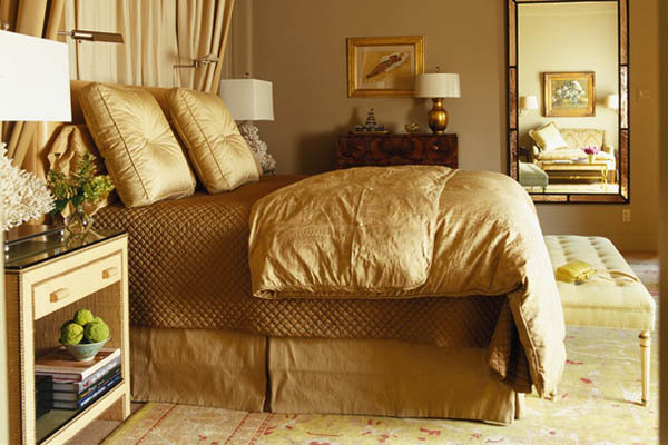 Gold Bedroom Interior Decor