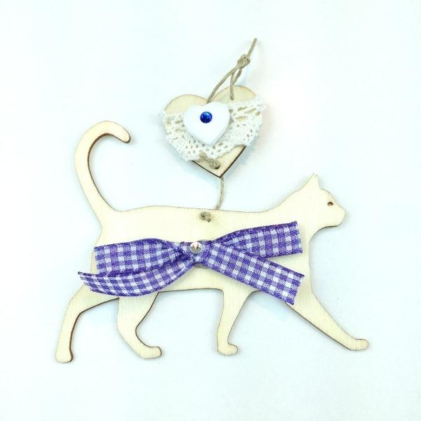 gatto vichy blu1s