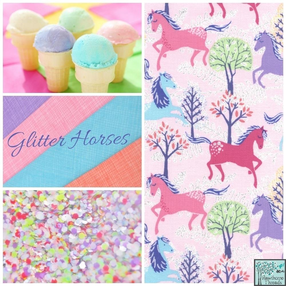 Glitter Horses Poster