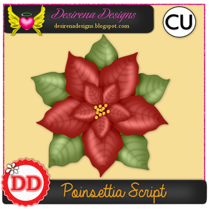 DesirenaDesigns Poinsettia ScriptCU PV-700x700