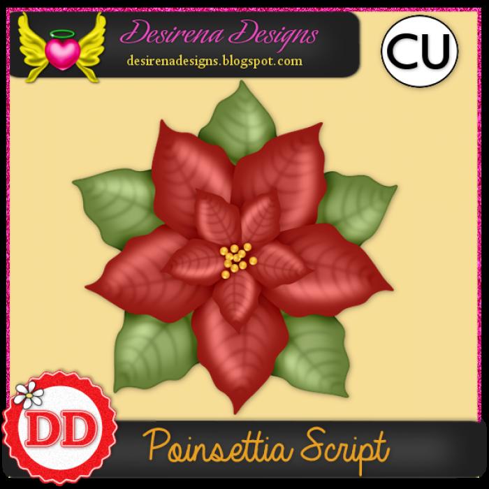 DesirenaDesigns Poinsettia ScriptCU PV-700x700