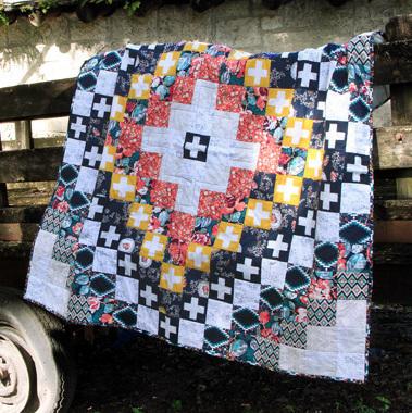 katarina roccella woven fragments quilt kit sewing pattern