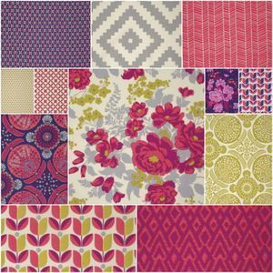 2655 flora fat quarter bundle in poppy