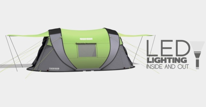 c21548af602 & Meet Cinch!u2013 The ultimate pop-up tent with solar power u0026 LED