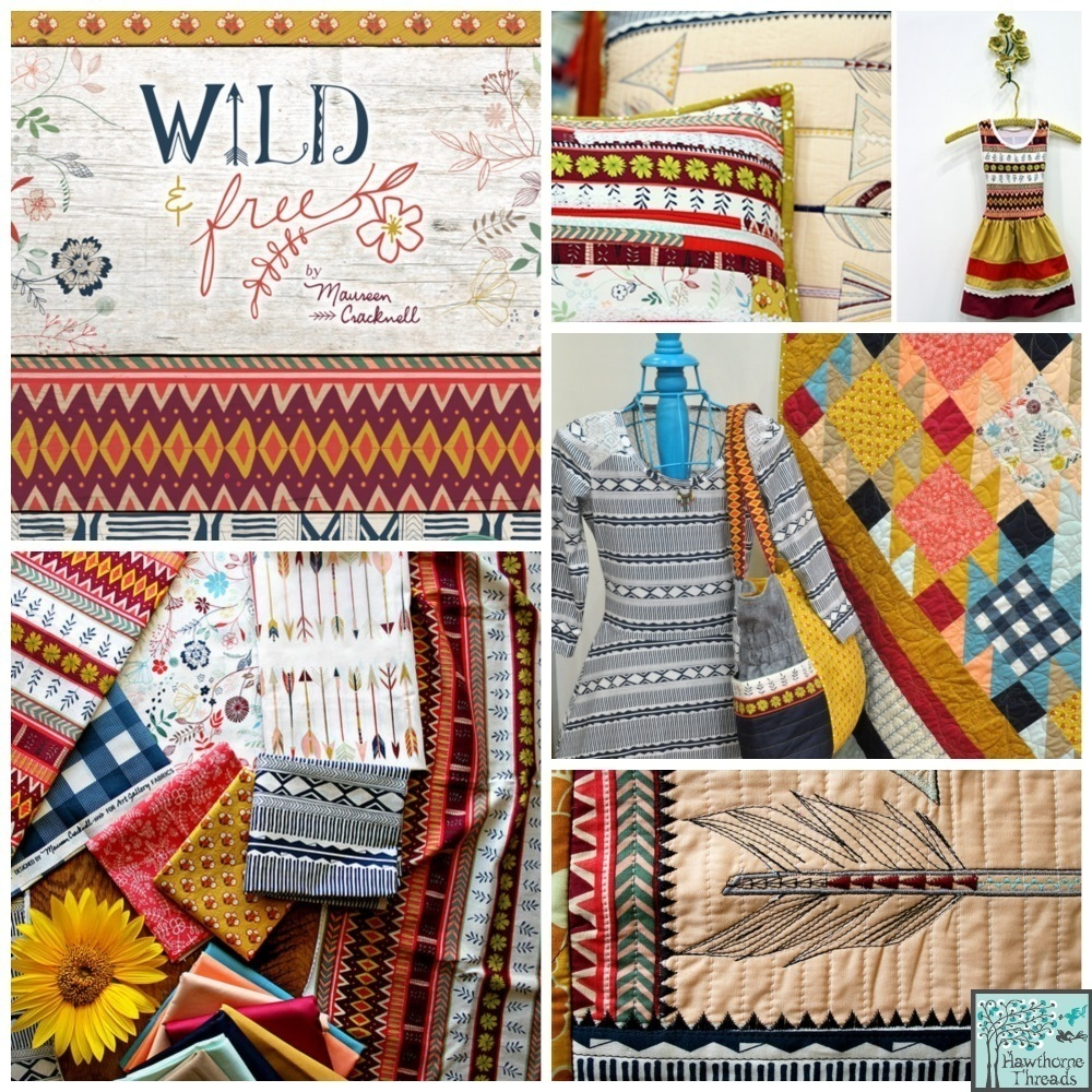 Wild and Free Fabric poster