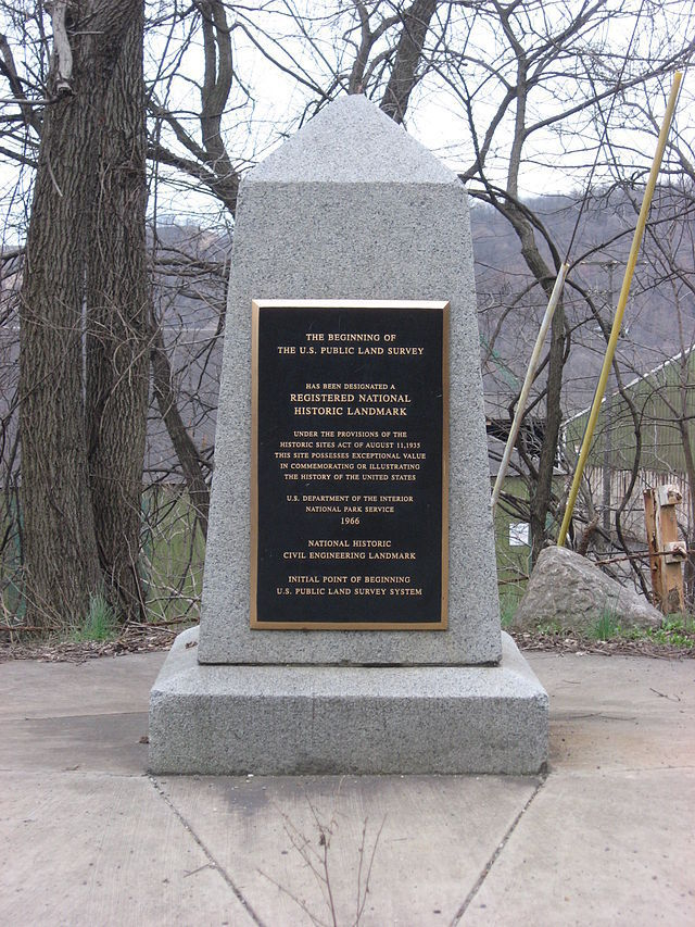 Beginning Point of the U.S. Public Land Survey front