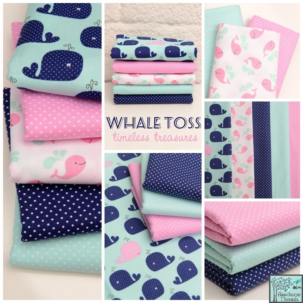 Whale Toss Fabric Poster