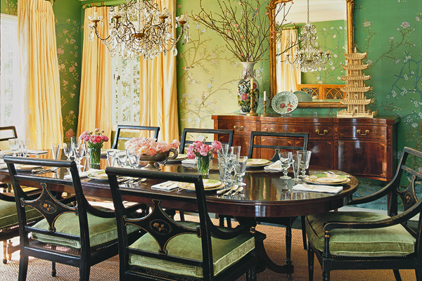 Chinoiserie Wallpaper Dining Room Interior Decor Mary MacDonald