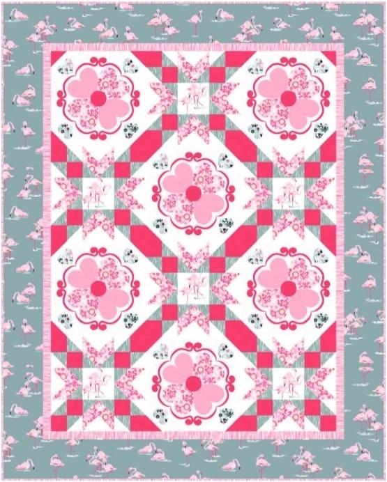 Flamingos Quilt Pattern