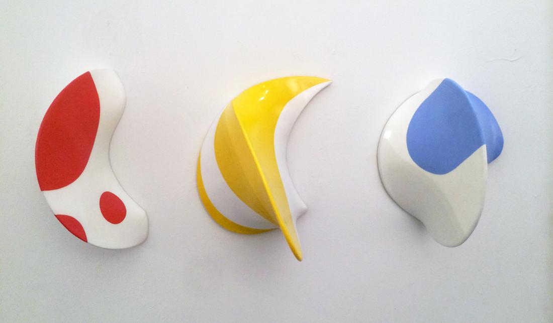 2. Conversations  2  George Goodridge  acrylic on resin soaked stretch canvas  12h x 30w x 9d   3200