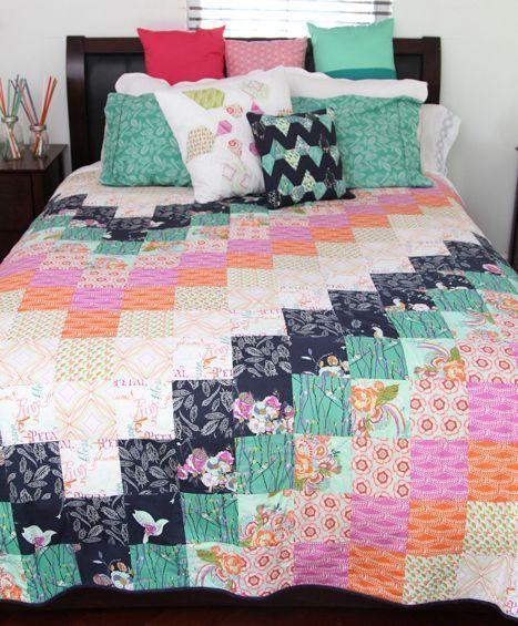 bari j ackerman flaunt quilt kit sewing pattern