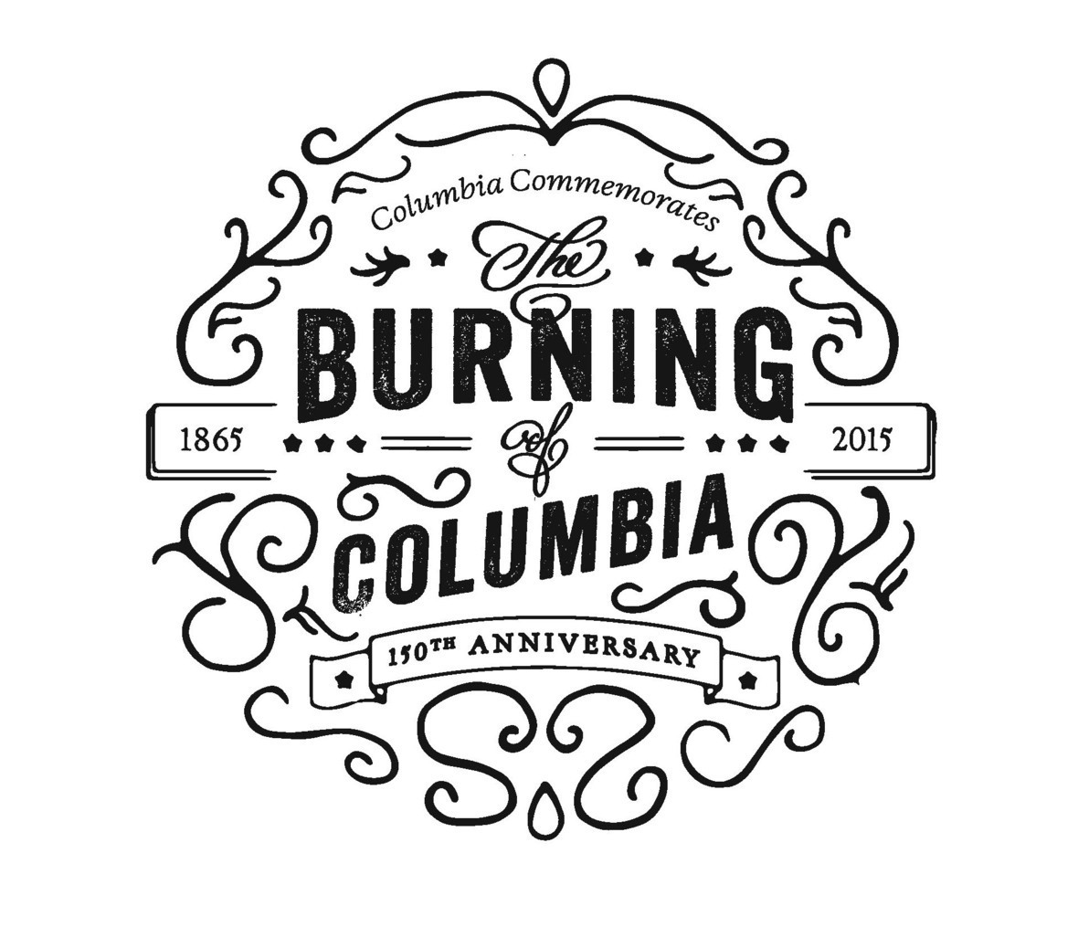 Burning of Columbia Logo