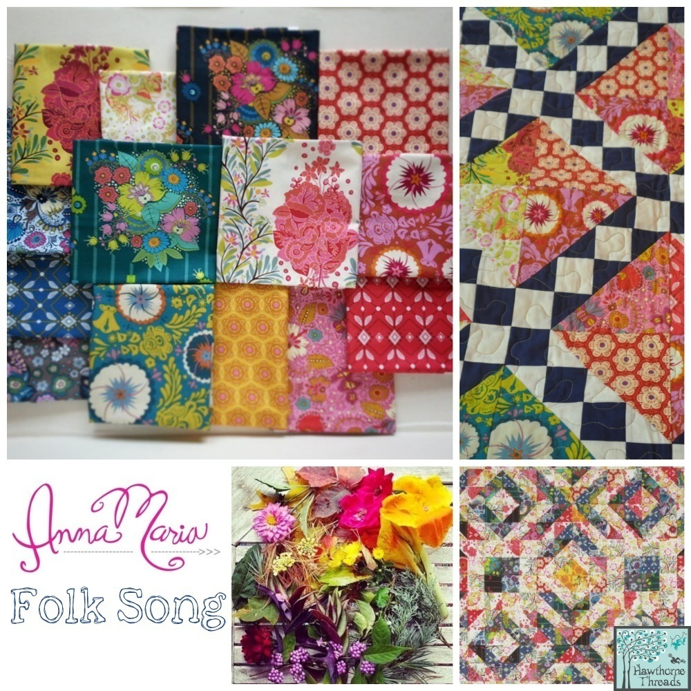 Folk Song Fabric Poster