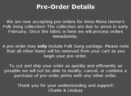 Folk Song Pre-Order