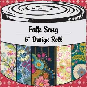 2877 folk song 6 inch design roll