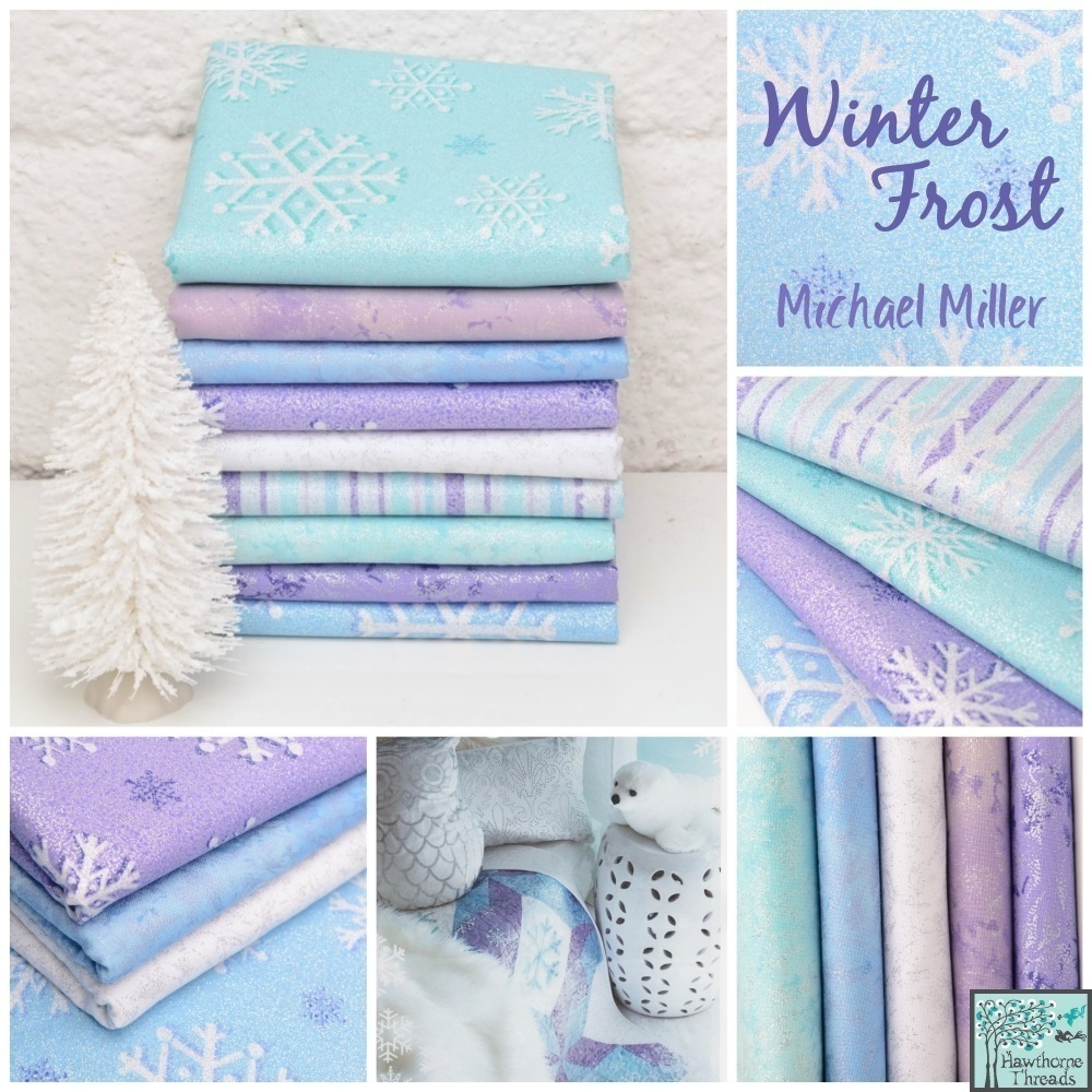Winter Frost Fabric Poster