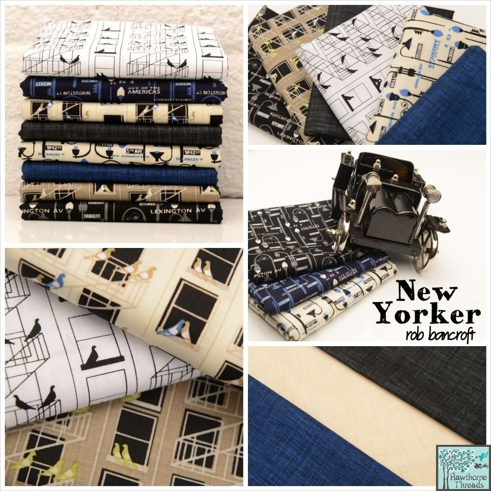 New Yorker Fabric Poster