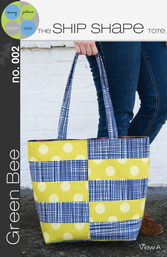 green bee design the ship shape tote sewing pattern