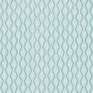 Schumacher Ribbon Wave Aqua Wallpaper