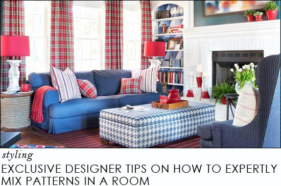 Exclusive Designer Tips on How to Expertly Mix Patterns in a Room