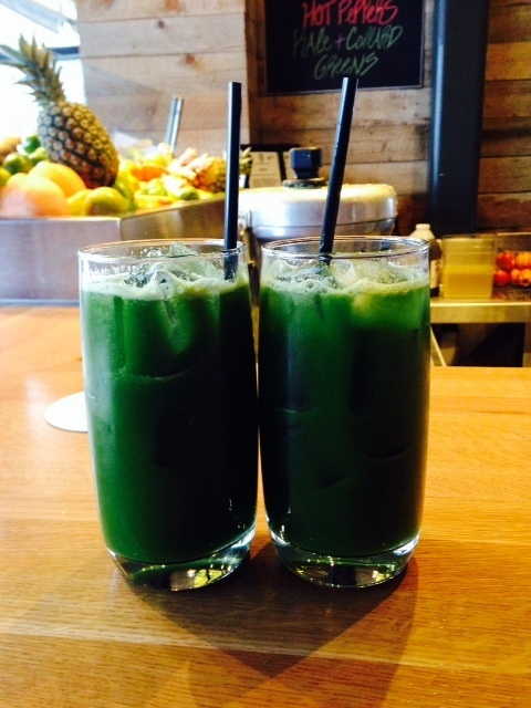Green drink toast