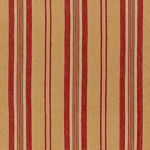 Schumacher Sagaponic Linen Stripe Berry Fabric