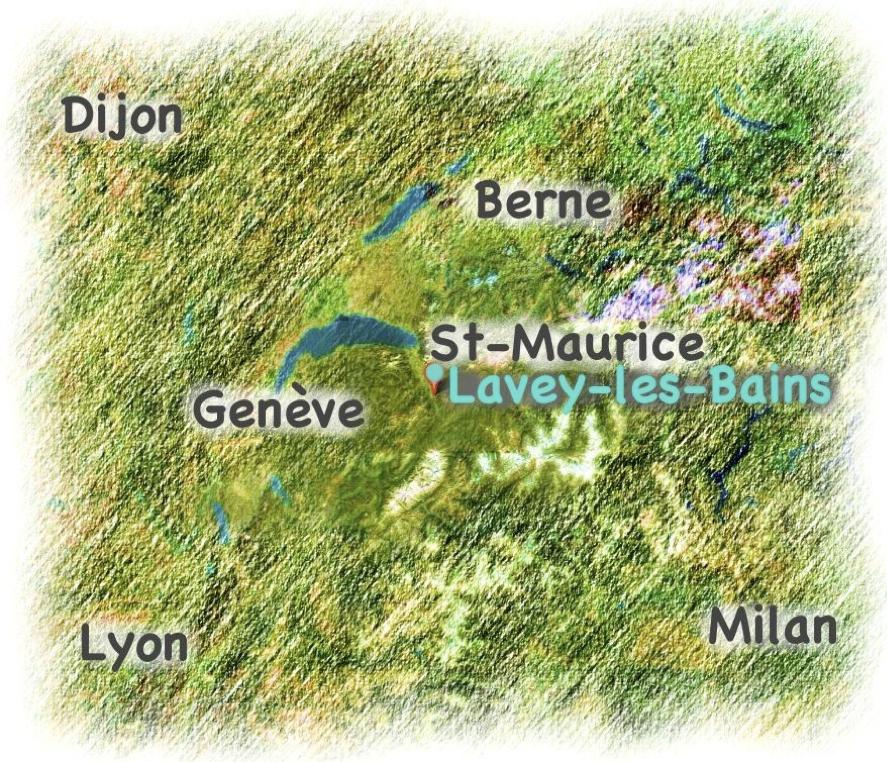 Lavey-les-Bains plan