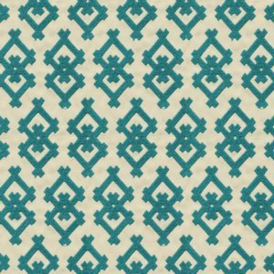 Groundworks LITTLE CLINTCH TEAL Fabric