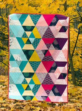 michelle engel bencsko prismatic quilt kit sewing pattern