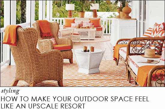 how to make your outdoor space feel like an upscale resort