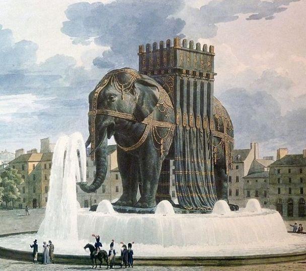 800px-Elephant de la Bastille aquarelle de Jean Alavoine ltwfvw