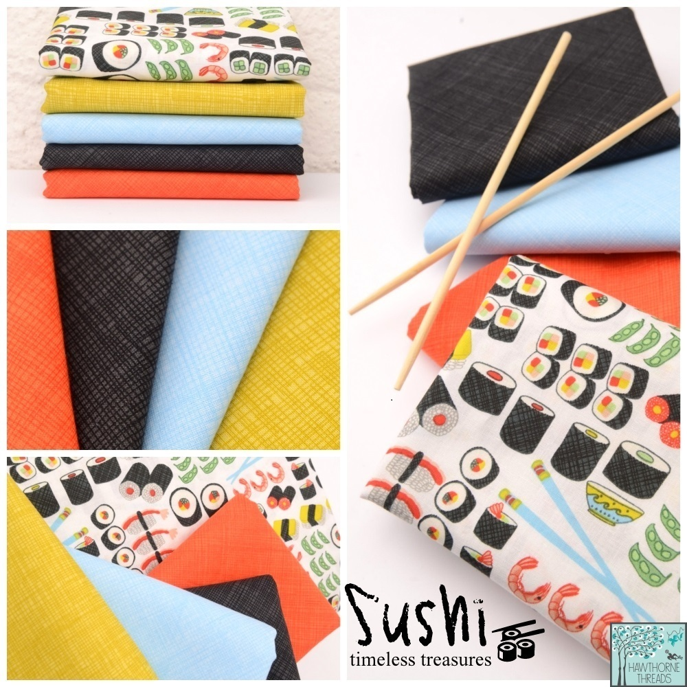 Sushi Fabric Poster