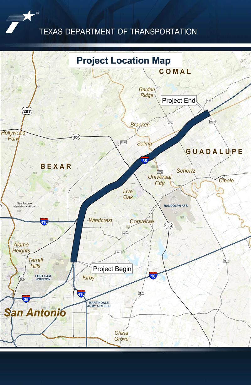 I35NEX Public Hearing Location Map